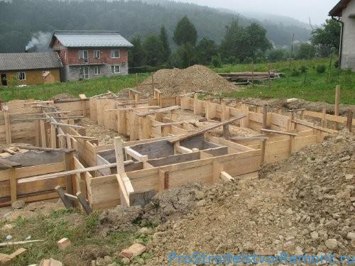 Как сделать опалубку и бетон для фундамента фото