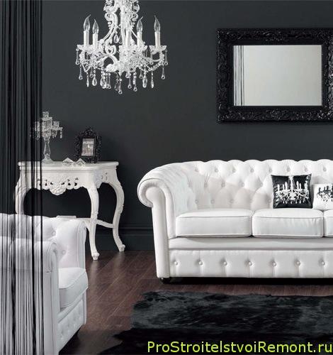 дизайн интерьера черно белой гостиной фото про строительство и