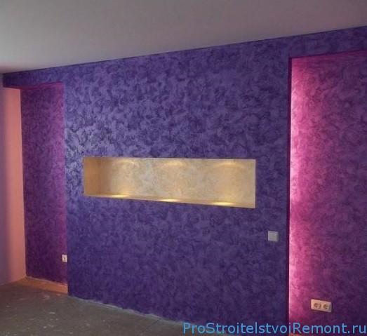 Декоративная штукатурка в комнате фото