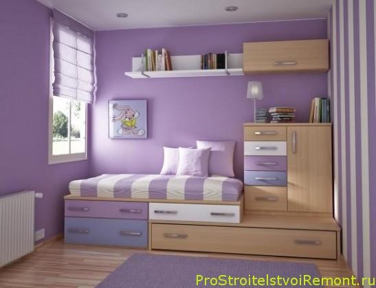Дизайн детской комнаты фиолетового цвета фото
