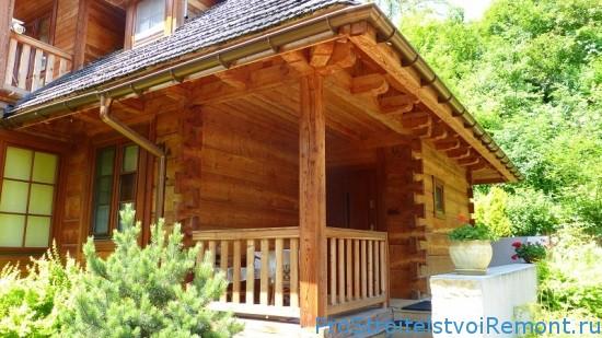 Дома из древесины лиственницы