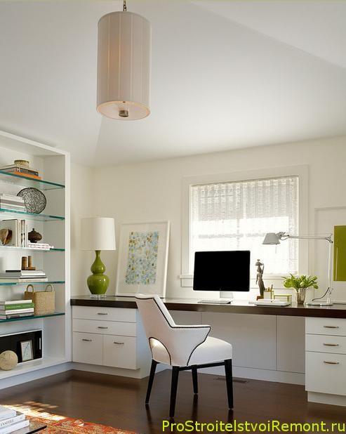 Домашний офис с компьютерным столом фото