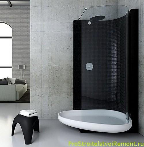 Современный дизайн ванной комнаты с душевой кабиной (гидробоксом) фото