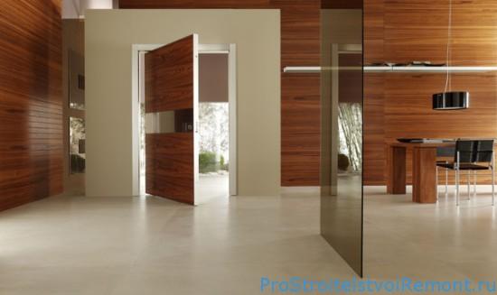 Современная стеклянная межкомнатная дверь