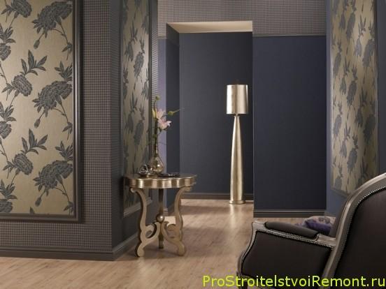 Флизелиновые обои в гостиной, коридоре и в прихожей фото