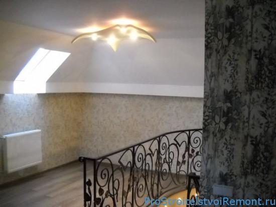 Потолок из гипсокартона красивый светильник фото