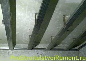 Монтаж подвесного потолка из гипсокартона своими руками фото