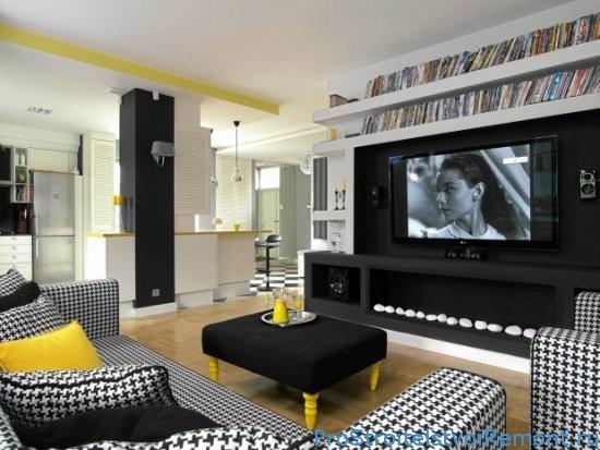 Дизайн стен и потолка из гипсокартона фото