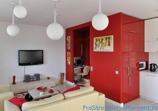 Разработка дизайна интерьера тесной гостиной