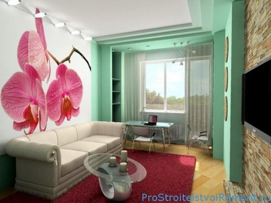 Дизайн тесной гостиной