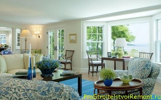 Как украсить дизайн интерьера гостиной с цветами фото