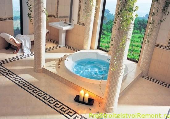 Греческий стиль в ванной комнате фото