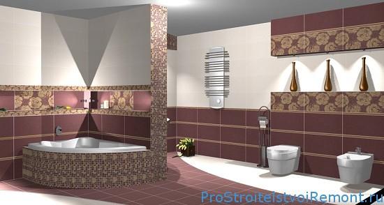 Красивый интерьер в ванной комнате фото