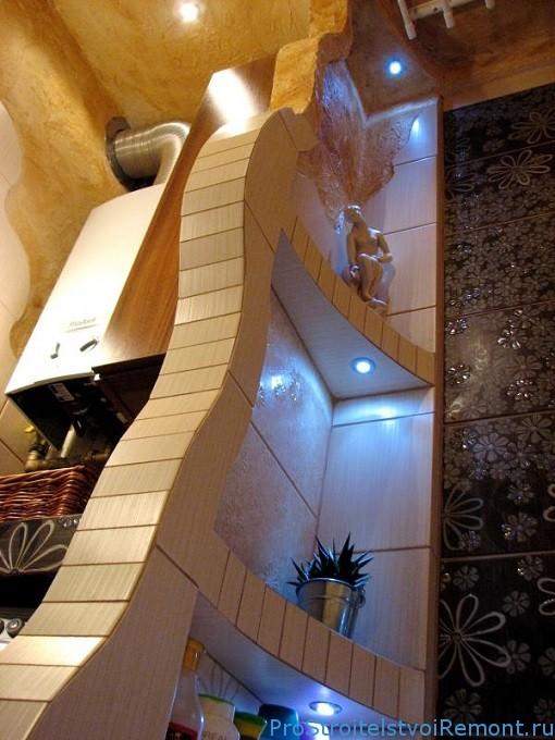 Неоновый интерьер в ванной комнате фото