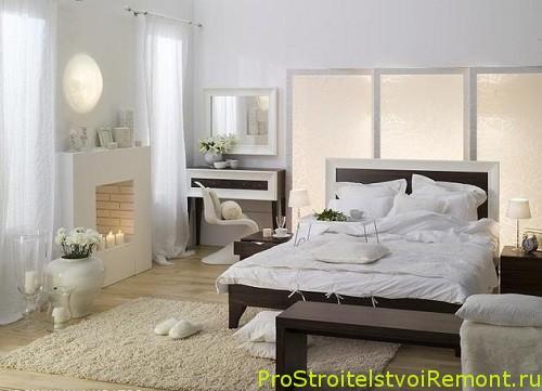 Установка каминов в спальне