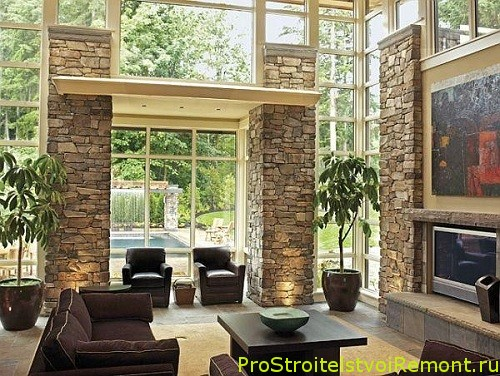 Камины в гостиной фото