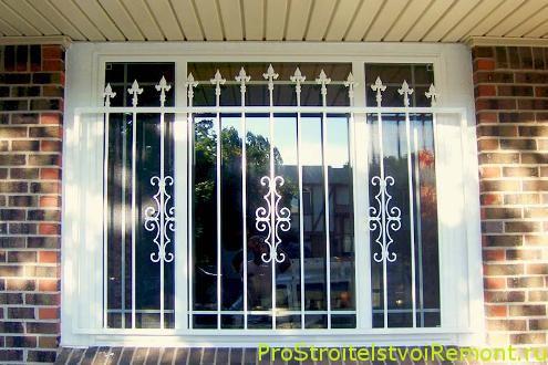 Дизайн решеток на окна фото