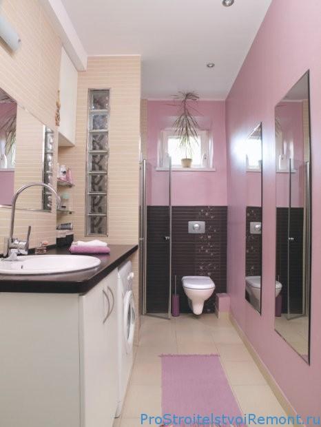 Окраска стен в ванной комнате