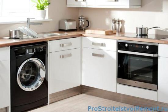 кухня со стиральной машиной фото