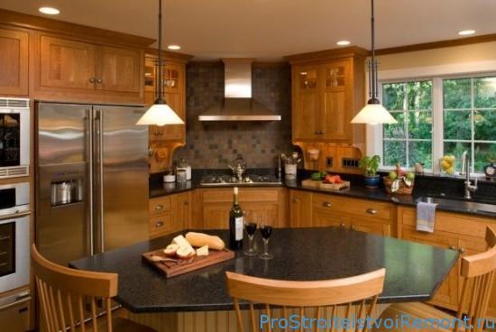 Неподдельный уют деревянной кухни фото