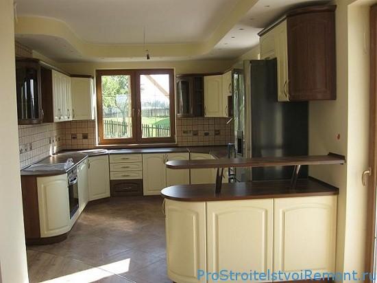 Дизайн кухни раковина в углу фото