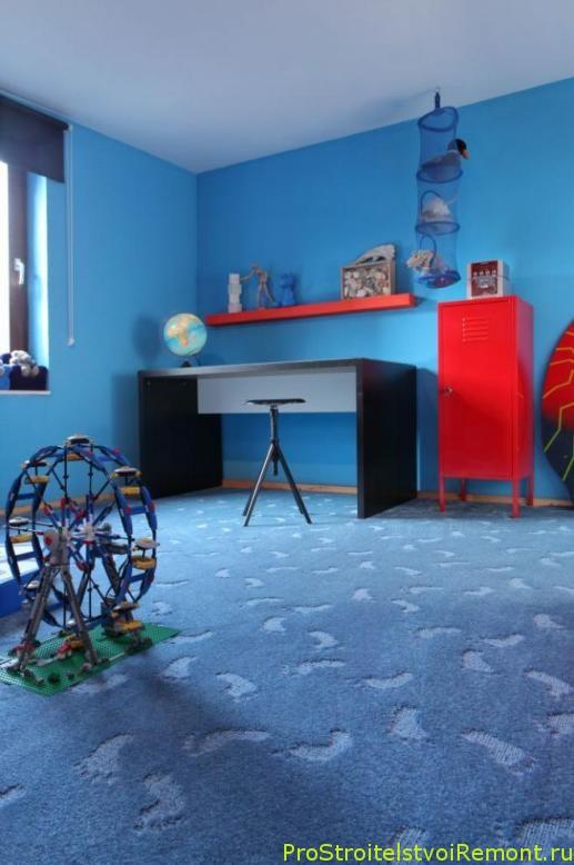 Теплое ковровое покрытие в детской комнате фото