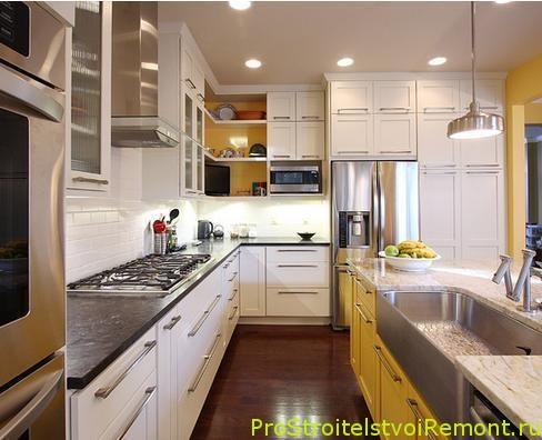Дизайн кухни с большой раковиной фото