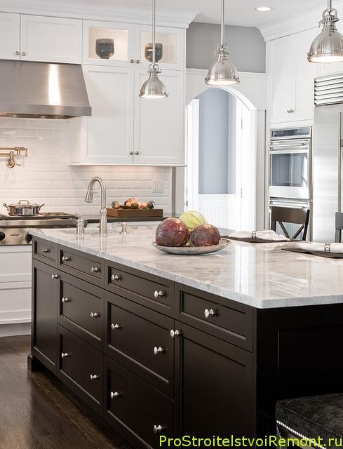 Современный дизайн маленькой кухни фото