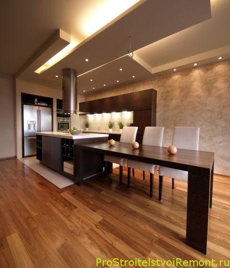Правильное освещение на кухне фото