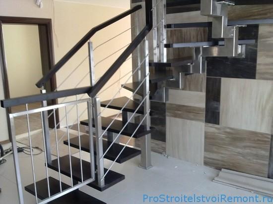 Металлические лестницы для дома на заказ фото