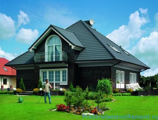 Строительство дома. Крыша из мягкой черепицы
