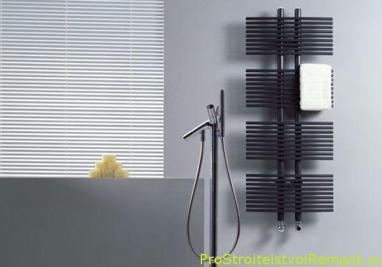 Стильный нагреватель в ванной комнате фото
