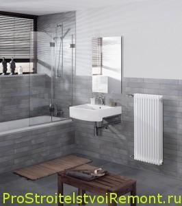 Обогреватели и современные батареи в ванной комнате фото