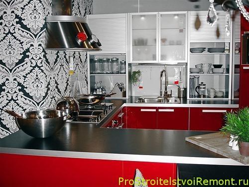 Без хороших моющихся кухонных обоев