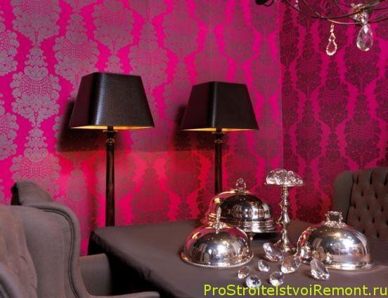 Дизайн обоев в гостиной и столовой фото