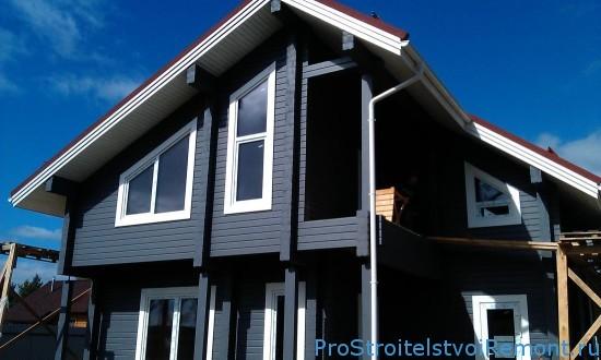 Покраска и каркас дома из древесины