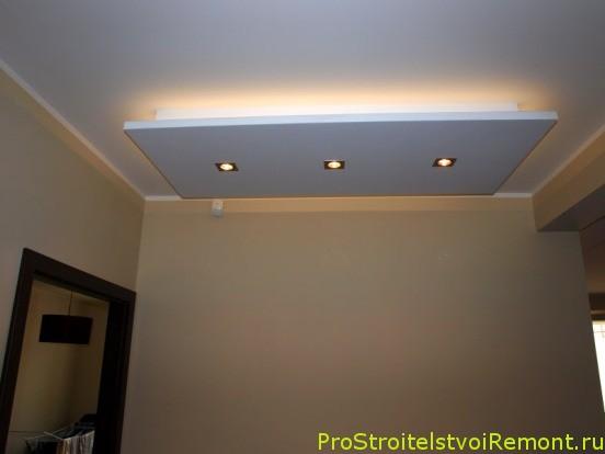 Дизайн точечного освещения потолков