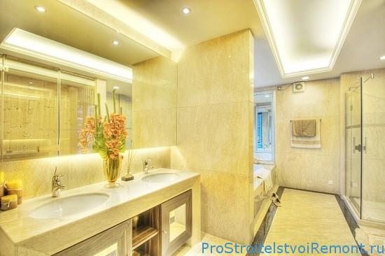 Как сделать правильное освещение в ванной комнате?