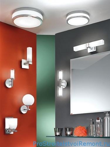 Дизайн ванной комнаты с освещением фото