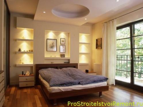 Создать дизайн подвесного потолка из гипсокартона с освещением фото