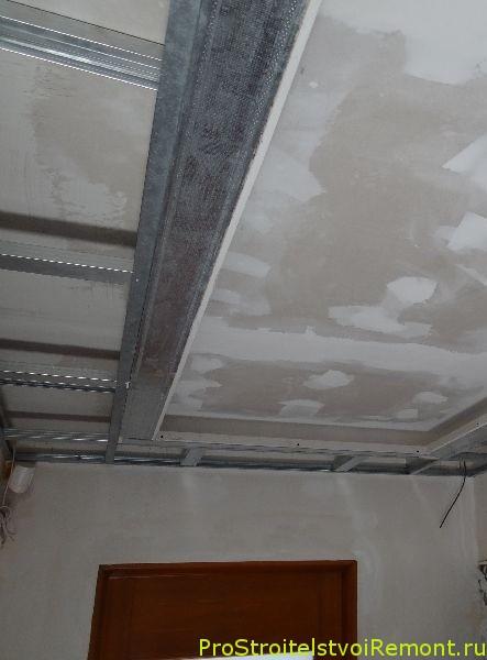 Дизайн подвесного потолка из гипсокартона в зале фотографии