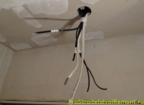 Освещение в потолке из гипсокартона фото