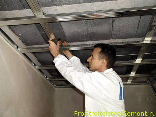 Подвесные гипсокартоновые потолки