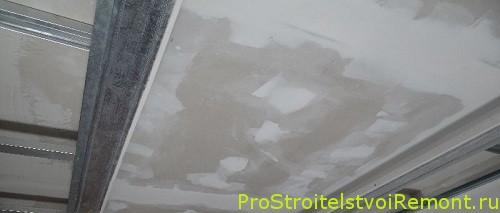 Монтаж подвесного потолка из гипсокартона в своими руками прихожей фото