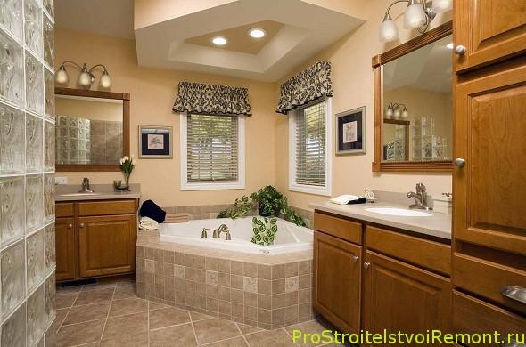 Потолки в ванной комнате фото