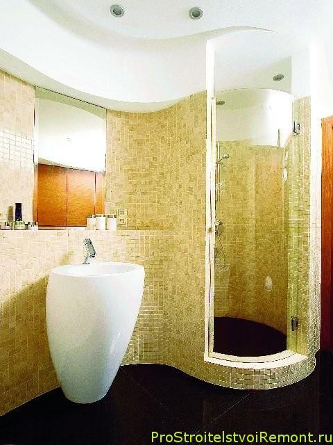 Подвесные потолки на кухне и в ванной комнате фото
