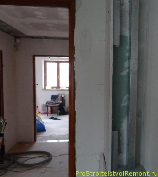 Установка гипсокартона в ванной комнате фото