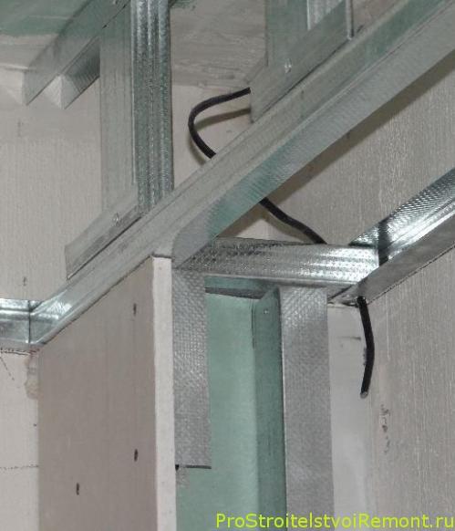 Монтаж гипсокартона в ванной комнате фото