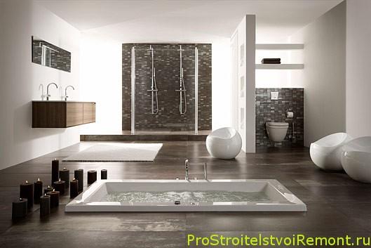 Красивый и современный дизайн ванной комнаты фото