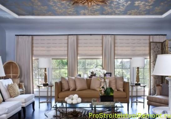 Дизайн декоративного подвесного потолка в гостиной фото